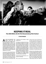 Keeping It Real: The 2002 REAL Life on Film Documentary Film Festival