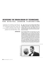 Reversing the Brain-drain of Technicians: The Digital Labour Federation