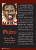Mabo: The Name and Face of Native Title: A Question of Recognition