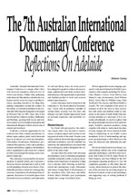 The 7th Australian International Documentary Conference: Reflections on Adelaide