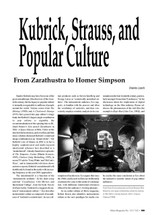 Kubrick, Strauss, and Popular Culture: From Zarathustra to Homer Simpson