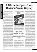 A Life in the Open: Frank Hurley's Papuan Odyssey
