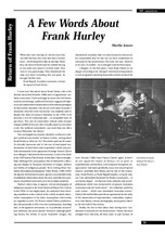 A Few Words About Frank Hurley