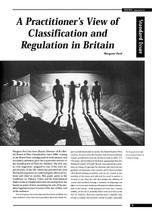 A Practitioner's View of Classification and Regulation in Britain