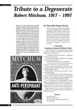 Tribute to a Degenerate: Robert Mitchum, 1917-1997
