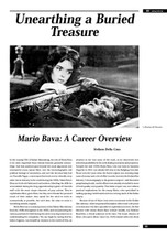 Unearthing a Buried Treasure: Mario Bava: A Career Overview