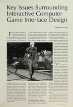 Key Issues Surrounding Interactive Computer Game Interface Design