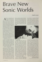 Brave New Sonic Worlds
