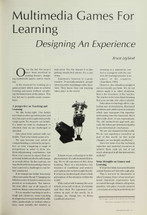 Multimedia Games for Learning: Designing an Experience