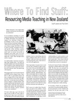 Where to Find Stuff: Resourcing Media Teaching in New Zealand