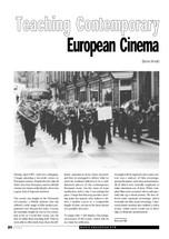 Teaching Contemporary European Cinema