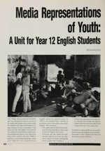 Media Representations of Youth: A Unit for Year 12 English Students