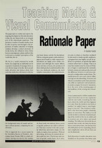 Teaching Media and Visual Communication: Rationale Paper