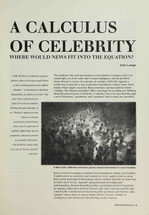 A Calculus of Celebrity: Where Would News Fit into the Equation?