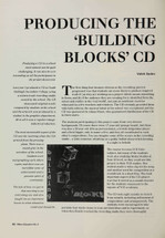 Producing the 'Building Blocks' CD