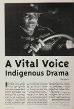 A Vital Voice: indigenous Drama