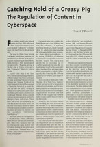 Catching Hold of a Greasy Pig: The Regulation of Content in Cyberspace