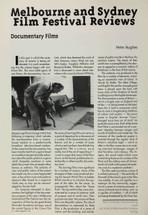 Melbourne and Sydney Film Festival Reviews: Documentary Films