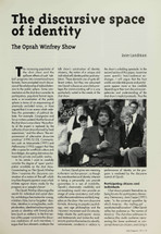 The Discursive Space of Identity: 'The Oprah Winfrey Show'