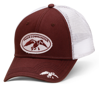 Brown Mesh Fitted Duck Commander Hat