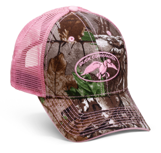 Women's RealTree AP Camo and Pink Mesh Hat