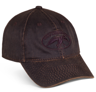 Brown Waxed Cap with the Duck Commander Logo