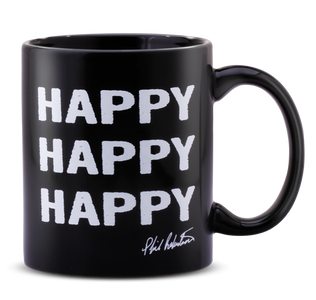 Black Happy, Happy, Happy Coffee Mug
