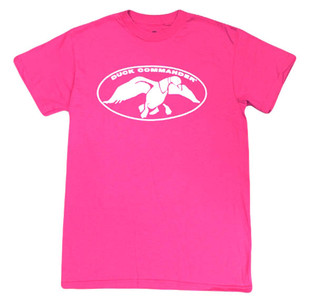 Heliconia Pink with White Duck Commander Logo T-Shirt