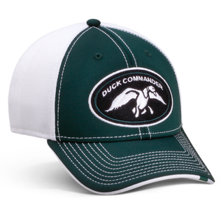 Duck Commander Logo Hat Green and White Hat