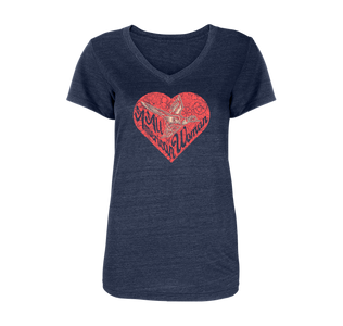 All American Heart Fitted Women's T-Shirt