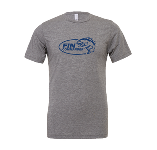 Fin Commander Logo Heather Grey T-Shirt