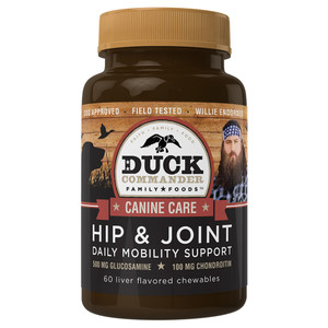 Duck Commander Dog Vitamins Hip & Joint Support Bottle