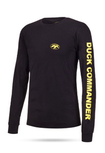 Duck Commander Logo Long Sleeve Black/Yellow Shirt
