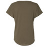 Military Green, loose fit Women's Dolman tee.