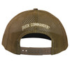 "Brown Mesh back panels with ""Duck Commander"" embroidered in tan thread. Snapback."