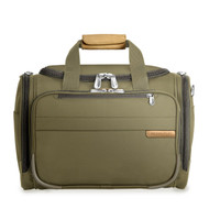 Front shot of Cabin Duffle in olive.