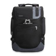 Front shot of Excursion Backpack in black.