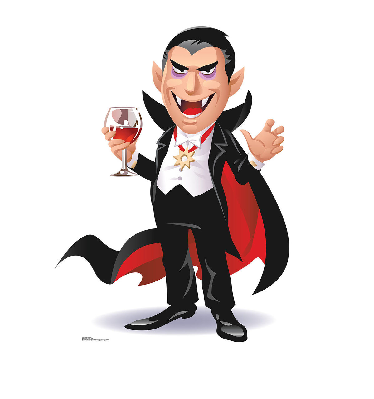 life size cartoon dracula cardboard standup cardboard cutout. Black Bedroom Furniture Sets. Home Design Ideas