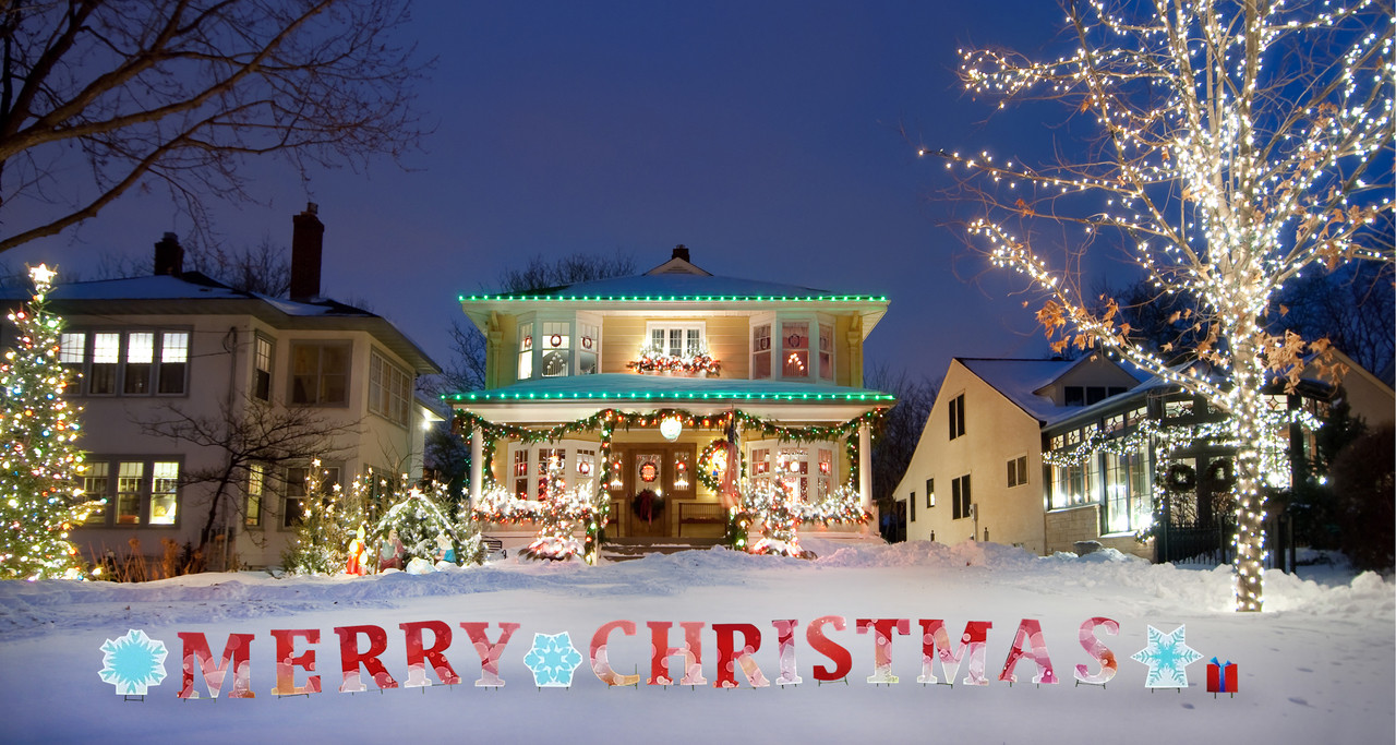 Merry Christmas Yard Sign Outdoor