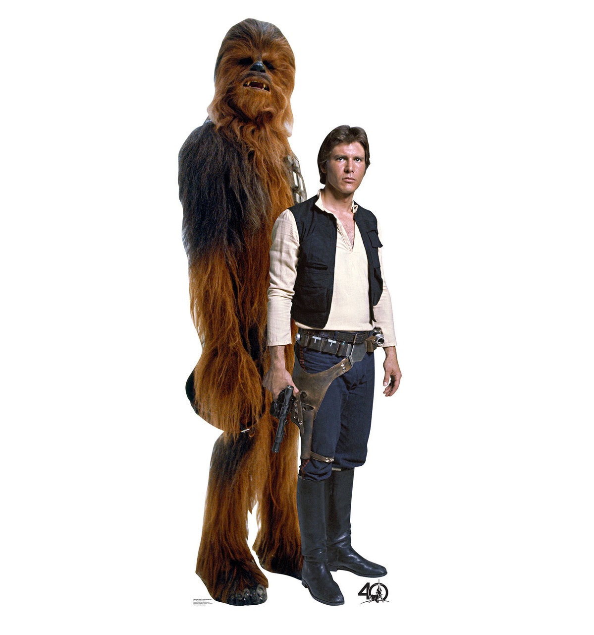 Life Size Han Solo And Chewbacca Star Wars 40th