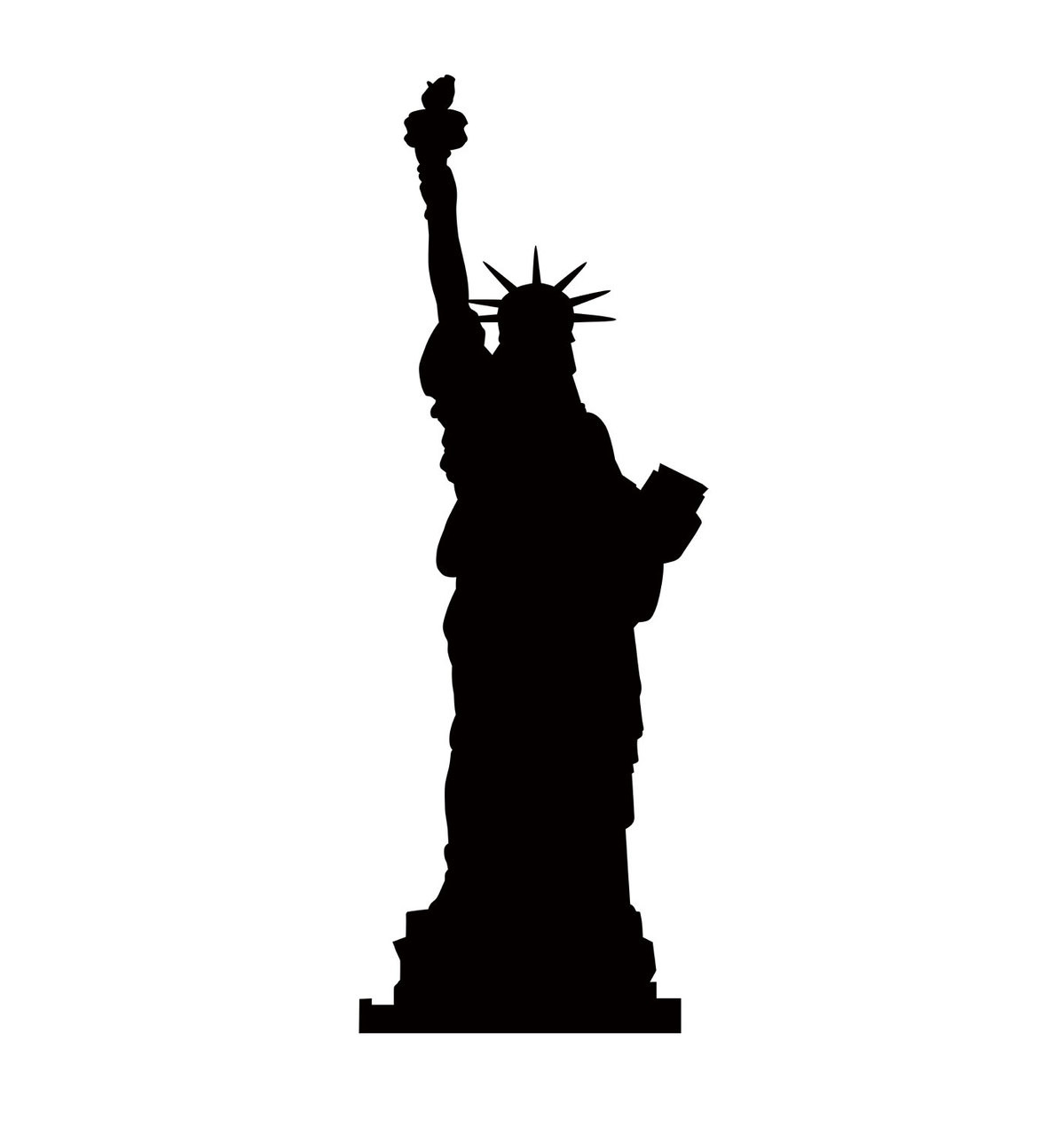 life size statue of liberty silhouette cardboard standup Military Clip Art Flag Clip Art