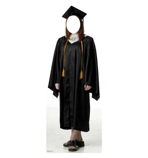 Female Graduate Black Cap and Gown