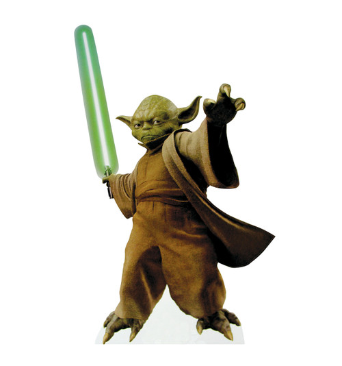 Yoda with Lightsaber- Star Wars