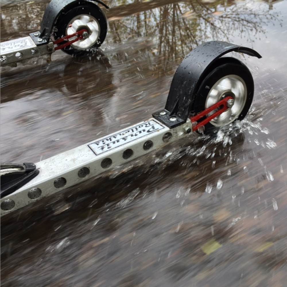 Fenders help you stay dry!