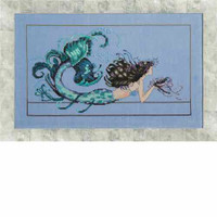 Mermaid Undine Kit Cross Stitch Chart Fabric Beads Silk Floss Nora Corbett Mirabilia MD134
