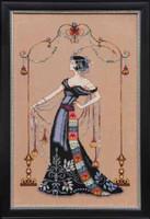At the Met Kit Cross Stitch Chart Fabric Beads Braid Silk Floss Nora Corbett Mirabilia MD135