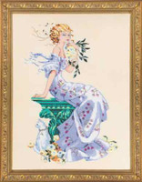 Florentina Kit Cross Stitch Chart Fabric Beads Silk Floss Braid Nora Corbett Mirabilia MD138