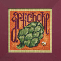 Artichoke Beaded Cross Stitch Kit Mill Hill 2009 Buttons & Beads Spring MH149104