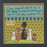 Good Dogs Beaded Counted Cross Stitch Kit Mill Hill Curly Girl 2015