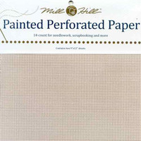 Pink Frost Painted Perforated Paper Mill Hill 14 Count 9x12 Inches